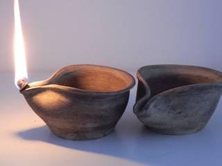 Lampade a olio senza coperchio di Ceramica Artistica di Chiara Cantamessa Rustico