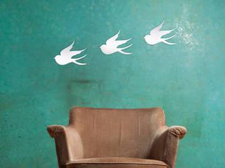 Mirrored Bird od Ava & Bea Nowoczesny