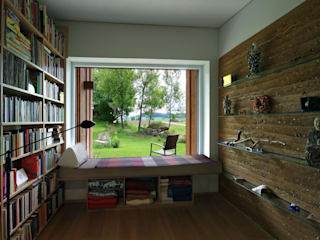 zauner I architektur Phòng học/văn phòng phong cách tối giản