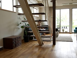 ai建築アトリエ 斯堪的納維亞風格的走廊,走廊和樓梯