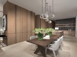 Sala da pranzo moderna di Exit Pracownia Projektowa Moderno