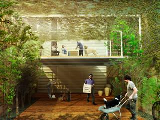 VIVIENDA LAMINA Casas minimalistas de Colectivo Ruta Alterna Minimalista
