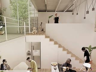 VIVIENDA LAMINA Comedores minimalistas de Colectivo Ruta Alterna Minimalista