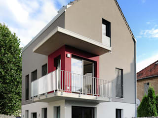 Einfamilienhaus, Außenfassade:  Häuser von Baugeschäft Heckelsmüller