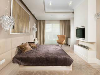 Hill Park Apartments Nowoczesna sypialnia od T3 Studio Nowoczesny