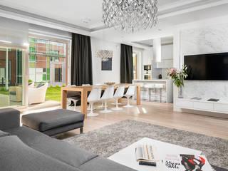 Hill Park Apartments Nowoczesny salon od T3 Studio Nowoczesny