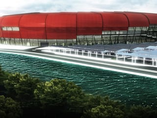 Hatay 25.000 Seyirci Kapasiteli Stadyum Tasarımı Modern Stadyumlar Arkinom Studio Modern