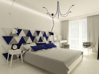 TRIADA, tak po prostu: styl , w kategorii Sypialnia zaprojektowany przez FLUFFO fabryka miękkich ścian