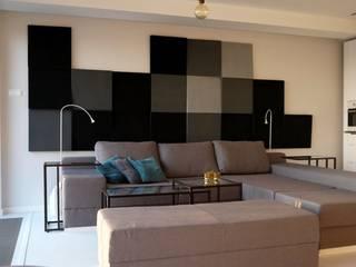 Fluffo CUBE w prywatnej odsłonie...: styl , w kategorii Salon zaprojektowany przez FLUFFO fabryka miękkich ścian