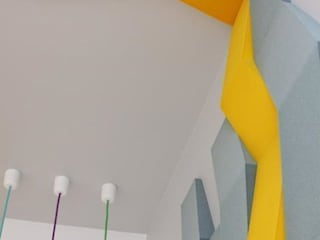 CHEVRON w projekcie Desing Me Too, realizacja Fluffo: styl , w kategorii Ściany zaprojektowany przez FLUFFO fabryka miękkich ścian