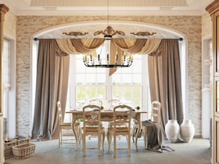 Colonial style dining room by Студия дизайна Interior Design IDEAS Colonial