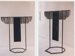 SCULPTURE PLOMB ET VERRE NOIR:  de style  par Thierry CHEVAUCHE