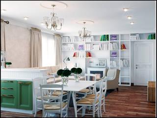 Mediterranean style dining room by Частный дизайнер и декоратор Девятайкина Софья Mediterranean