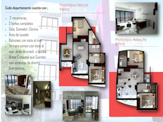Triptico informativo, Condominios Panamá. : Estudios y oficinas de estilo moderno por think E-studio