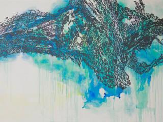 San33-121, acrylic on canvas, 193.9x130.0cm, 2015 by Kim Na Hyun 김나현