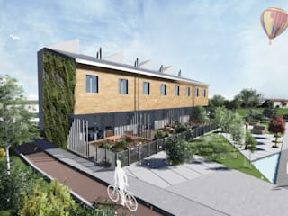 Mild Homes / NZEB Social Housing - Modena: Case in stile in stile Moderno di ia2 studio associato