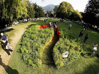 planimetria d'insieme: Giardino in stile in stile Moderno di GREENCURE - landscape & healing gardens