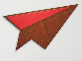 Wood & Formica 'Paper Plane' (Bright Red):   by Ava & Bea