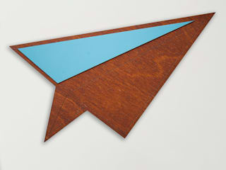 Wood & Formica 'Paper Plane' (Caribbean Blue):   by Ava & Bea