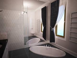 Łazienka eklektyczna Eklektyczna łazienka od Axentim Eklektyczny
