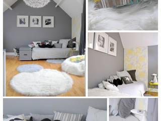 une chambre grise et blanche Chambre d'enfant moderne par idée ô logis Moderne