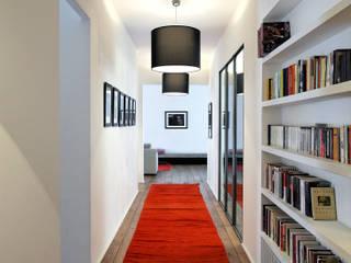 Modern Corridor, Hallway and Staircase by Antonio Virga Architecte Modern