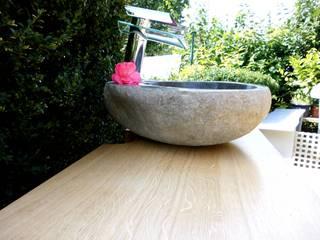 Waschbecken aus Stein von Ihre Holzmanufaktur Rustikal