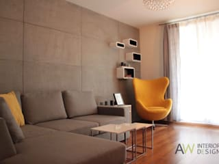 minimalistic Living room by AW INTERIOR DESIGN