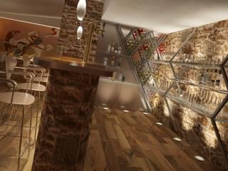 Cave à vin rustique par Eva Sáve Rustique