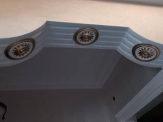 varak tasarım – altın varaklı kartonpiyer çalışmaları:  tarz Ofis Alanları