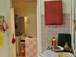 AVANT/ CUISINE et SALLE DE BAINS:  de style  par Emmanuelle Cohendet