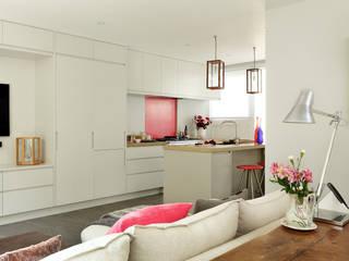 Open-Plan Kitchen/Living Room, Ladbroke Walk, London Cuisine moderne par Cue & Co of London Moderne
