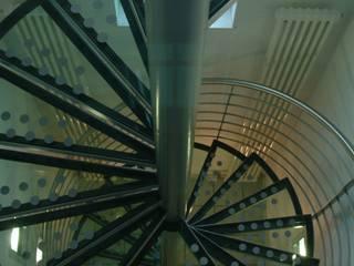 Modern corridor, hallway & stairs by Ernst Stahl- und Treppenbau GmbH Modern