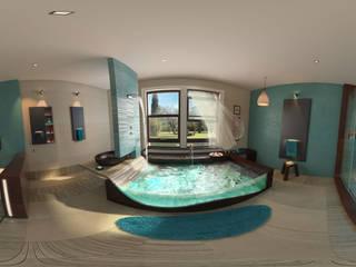 blue bathroom Bagno moderno di belliniderocco Moderno