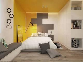 Fluffo CUBE w odsłonie pokoju dla 10-latka: styl , w kategorii Pokój dziecięcy zaprojektowany przez FLUFFO fabryka miękkich ścian