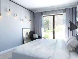 CHEVRON, czemu nie!: styl , w kategorii Sypialnia zaprojektowany przez FLUFFO fabryka miękkich ścian