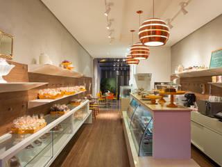 Lale Café e Doceria Lojas & Imóveis comerciais modernos por Vmf Arquitetos Moderno