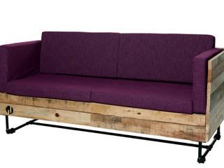 Mobiliario con madera reciclada (Pallets):  de estilo industrial por Mecate Studio, Industrial