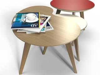 Les tables basses NUBES par Osmose le bois Moderne
