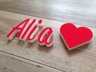 Alia mit Herz - Dekobuchstaben & Symbol:   von abc-3D