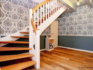 Country style corridor, hallway& stairs by STREGER Massivholztreppen GmbH Country