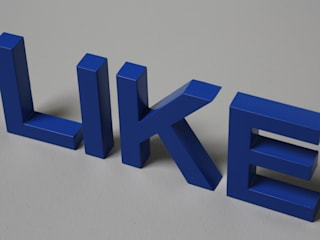 LIKE Dekobuchstaben - Standalphabet in Acryl:   von abc-3D