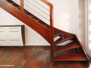 Moderne Eleganz  und hochwertige Materialien:  Flur & Diele von STREGER Massivholztreppen GmbH