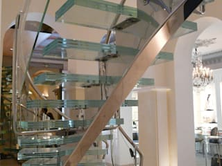 Escalier cristal :  de style  par S.I.B