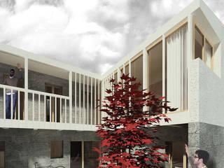 Churrasco House soma [arquitectura imasd] Balcones y terrazas de estilo moderno