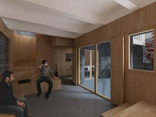 Couloir, entrée, escaliers modernes par soma [arquitectura imasd] Moderne