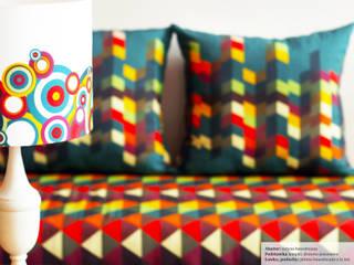 Ławka, lampka: styl , w kategorii  zaprojektowany przez Wzory i Kolory