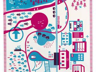 Tapis de jeux design, la ville rose:  de style  par trompette