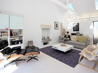 The Nook Converted Bakery Scandinavian style living room by NRAP Architects Scandinavian
