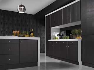 Grove Dark Oak Melinga Kitchen Dream Doors Ltd ห้องครัวที่เก็บของ